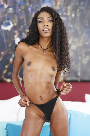 Ebony Babe Chanel Skye Received Cum All Over Her Face