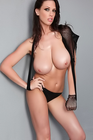 Lana Kendrick - Big Boobs In Fishnet